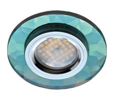 Ecola MR16 DL1654 GU5.3 Glass Стекло Круг граненый Изумруд / Хром 25x90 Solnechnogorsk