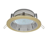 Встраиваемый потолочныйсветильник-спот Ecola GX53 H2R.C рефлектором. Цвет - Золото. Solnechnogorsk