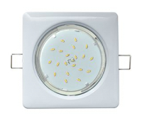 Ecola GX53 H4  Square светильник квадратный без рефл. Белый  107x41 Solnechnogorsk