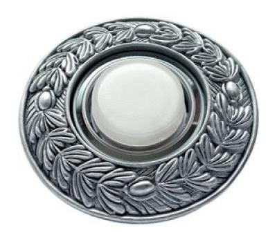 """Ecola накладка широкая гипсовая """"оливковый венок"""" для встр. свет-ка GX53 H4 черненое серебро 23х195 Solnechnogorsk"""
