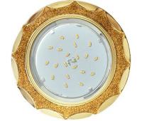 Ecola GX53 H4 DL3902 светильник встраив. без рефл.  Звезда под стеклом Золотой блеск / золото 106х38 (к+) Solnechnogorsk