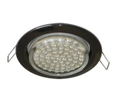 Ecola GX53 H4 светильник встраив. без рефл. черный хром 38х106 - 2 pack Solnechnogorsk