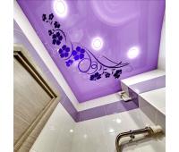 Глянцевый натяжной потолок с фотопечатью 1 м² + монтаж